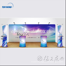 2017 design aluminum led profile for widely use 10x10 exhibition booth tension fabric pop up show