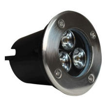 Imperméable 12V 24V Encastré Ronde 3W LED Floor Light