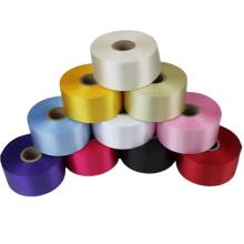 Double side polyester satin custom print ribbon for garment labels
