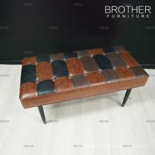 Chaise rembourrée tabouret en cuir