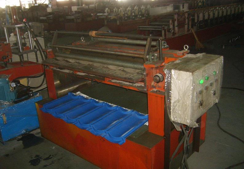Lace Shearing Machine for Stone Coated Metal Roofing Product Line