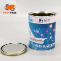 Latas de tinta de metal redondas de 1 quarto (1L) com plugues
