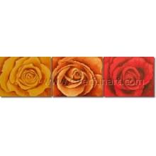 Новый дизайн Популярные Роуз масляной живописи (FL3-214)