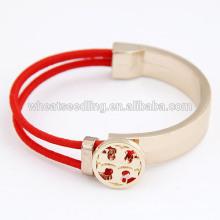 Bracelet à bracelet en croix simple et délicate en élastique pour femmes