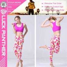 Atacado Soft Suave Sublimação Anti-UV Impresso Calças Justas de Yoga para As Mulheres