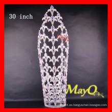 30 '' grande ab alto de cristal de la boda ronda desfile Corona