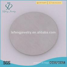 Hot venda 316l aço inoxidável redondo placas de vidro de prata para locket flutuante