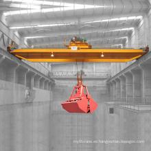 Grúa de arriba del cucharón del gancho agarrador del modelo de 20 toneladas QZ con el cucharón de agarre de la cuerda de cuatro mandíbulas para manejar el material a granel