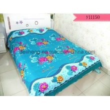 Preço barato escovado Microfibra poliéster tecido impresso para folha de cama