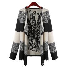 Mulheres moda algodão malha cardigan primavera camisola (yky2036)
