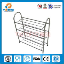 4 tiers Stainless steel Shoes shelf, Shoes Display Rack