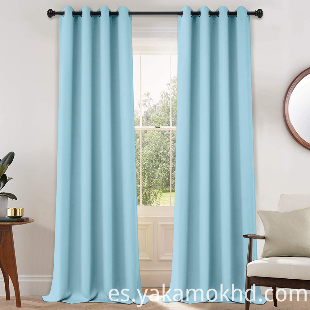 108 Inch Sky Blue Curtains