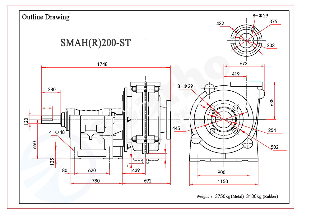 SMAH(R)200-ST outline drawing