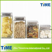 Large Glass Jar with Square Lid