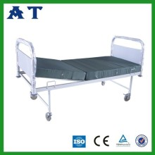 Manual double-folding bed