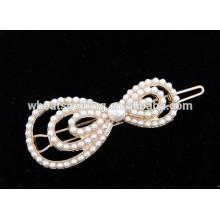 Joyería linda del pelo de la horquilla del nudo del arco de la perla de la manera popular caliente de la nueva llegada