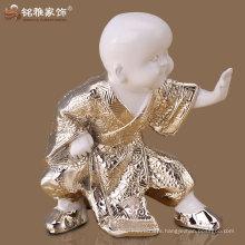 guangzhou accessories indoor decorative resin kungfu baby monk statue