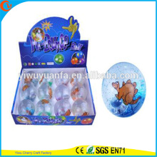 Hot Sell Kid's Toy 65mm Rubber LED Flashing Dinosaur Hi Bouncing Ball