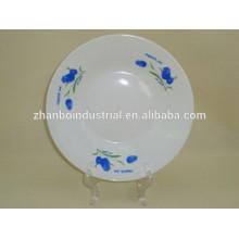 Cheap super white porcelain soup deep plate