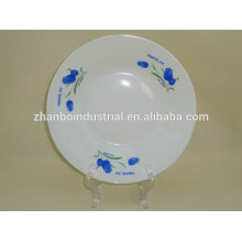 Placa de sopa de porcelana branca super super barato