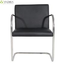Cadeira brno tubular de couro genuíno
