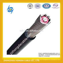 2 * 4AWG + 4AWG, 2 * 8AWG, 2 * 10AWG, 8000 series de aleación de aluminio conductor blindado XLPE / PVC cable eléctrico concéntrico de aislamiento