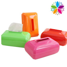 Colorful Rectangle Plastic Tissue Case (ZJH010)