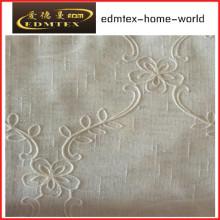 Moda bordada organza cortina tecido EDM2043