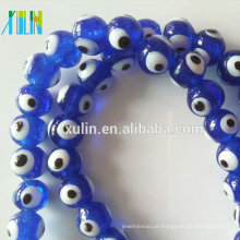 grânulos de lampwork de vidro de peru redondo mal olho grânulos para fazer jóias
