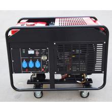 Fábrica-direta trifásico de dois cilindros 10kw Portable silencioso gerador de motor a gasolina