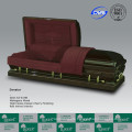 LUXES Popular American Style Solid Wooden Casket Mahogany Casket
