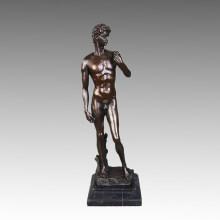 Classical Bronze Sculpture David Decoration Brass Statue Tpy-043