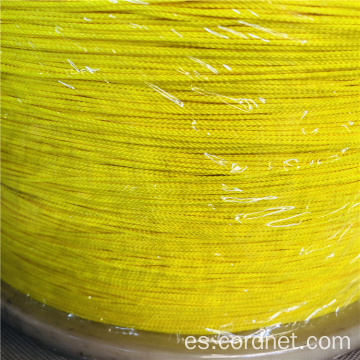 Nylon Braid Twine 2mm con color amarillo.