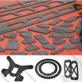Placa completa da fibra do carbono de 3K 400mm * 500mm matte lustrosa