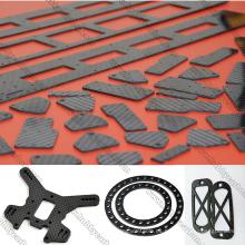 Brillante mate de placa de fibra de carbono de 3K 400 mm * 500 mm