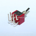 MTS-202-C3 6A DPDT ON-ON Standard Toggle Switch 6 Pin Curved Legs