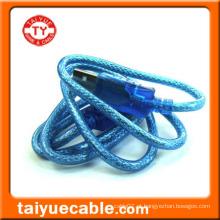 Transparente Azul USB Standard 2.0 Cabo de impressora
