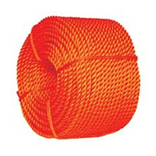 High quality orange PP split film twisted rope in 6-14mm