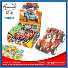Made in China Kunststoff Rennwagen Spielzeug mit Süßigkeiten