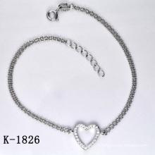 Bracelet en bijoux en zircon de mode 925 en argent (K-1826. JPG)
