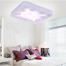 Élégant carré en bois LED plafonnier / plafonnier