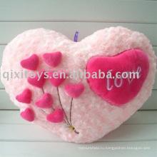 плюшевые и мягкие в форме сердца подушка-валентинка, мягкая игрушка цветок подушка