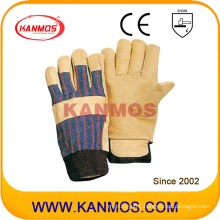 Yellow Pig Grain Leather Industrial Safety Winter Work Gloves (22304)