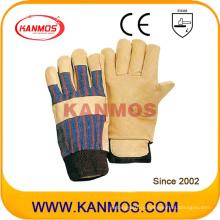 Желтая свинцовая кожаная промышленная безопасность Зимние рабочие перчатки (22304)