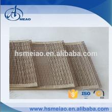Eco-friendly teflon PTFE glass mesh conveyor belt with bull nose joint