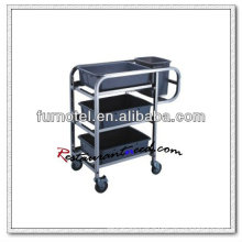 S090 Fixing Stainless Steel Leftovers-Collected Cart Stainless Steel Kitchen Trolley