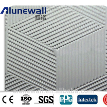 Alunewall texture panel embossed aluminum composite panel for wall cladding decoration