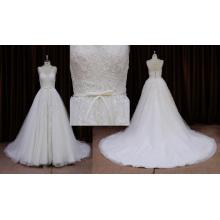 Encantador vestido de novia sin mangas