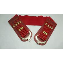 Ladies wide elastic belt for dressing