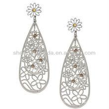 Nuevo producto para 2013 pendientes cristalinos amarillos de la lágrima del amarillo del acero inoxidable de la manera para las mujeres